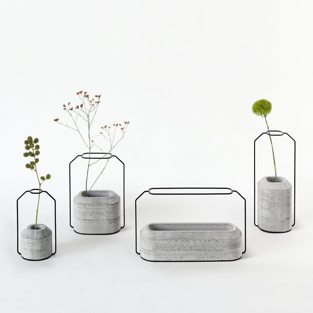 Vasi cemento e acciaio in stile minimal design miss for Vasi design economici