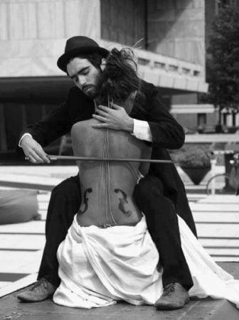 Violin Baby Photo