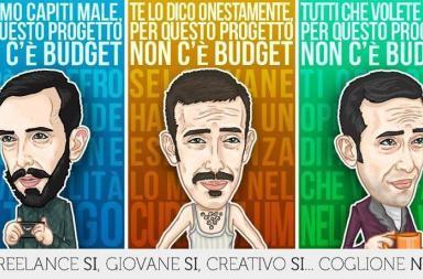 Caricature campagna di sensibilizzazione per il rispetto dei lavori creativi: #coglioneno