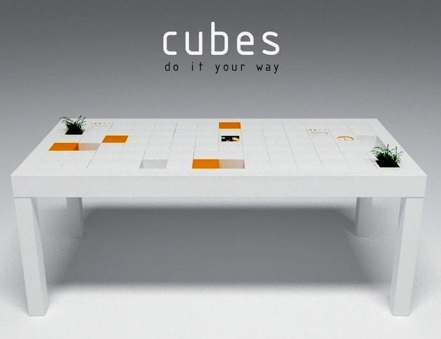 Cubes design miss for Portapenne ufficio design