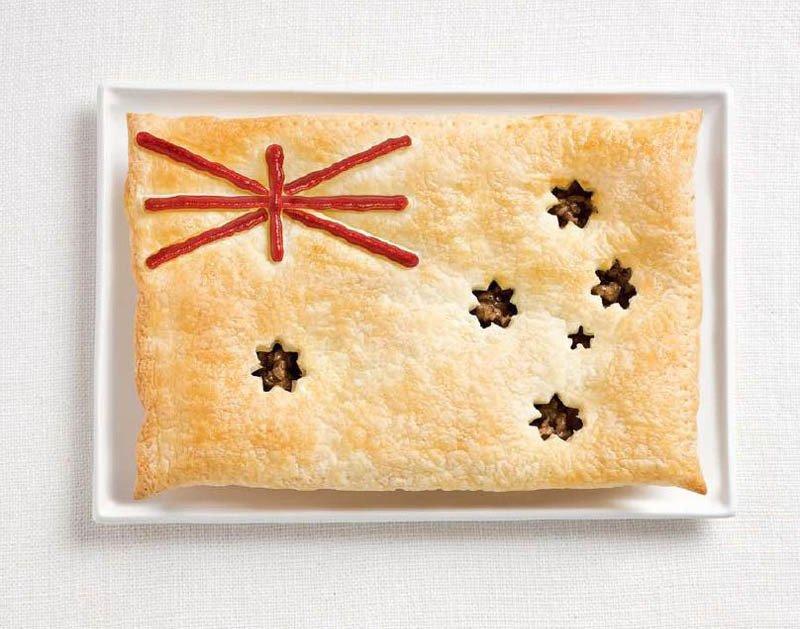 AUSTRALIA: tortino di carne e salsa