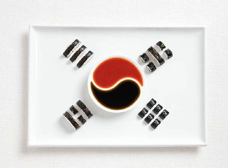 COREA DEL SUD: Kimbap (sushi rolls coreani) e salse