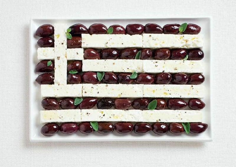 GRECIA: olive e feta.