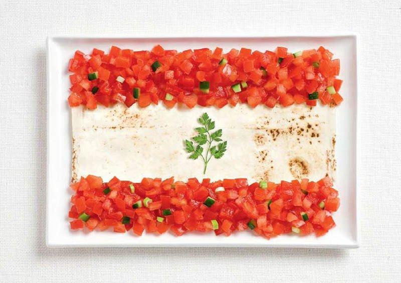 LIBANO: pita (pane tipico), pomodori e prezzemolo
