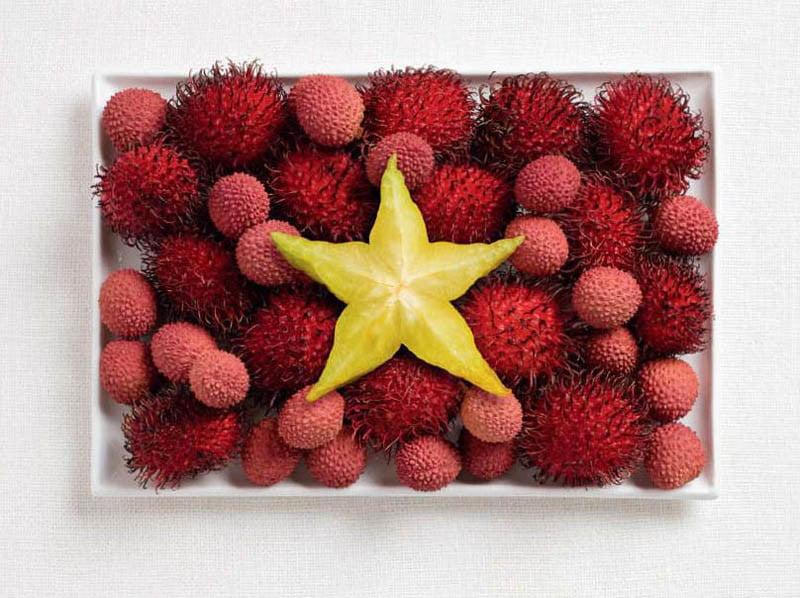 VIETNAM: litchi, rambutan e carambola (star fruit)
