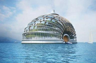 Ark hotel, un edificio impermeabile a prova di tsunami in China