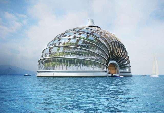 Ark hotel, un edificio impermeabile a prova di tsunami in China