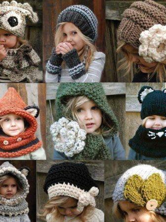 Crochet and Knitting Caps for children