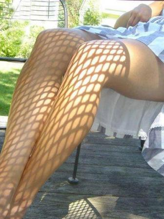 Shadow Art and Fishnet Tights