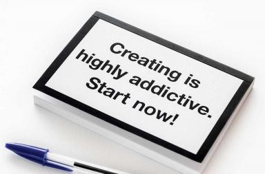 Block notes creativo a forma di notebook