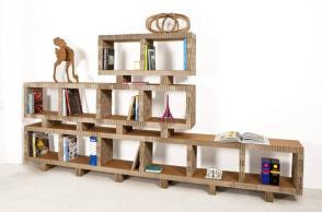 Libreria in cartone riciclato Bookstack