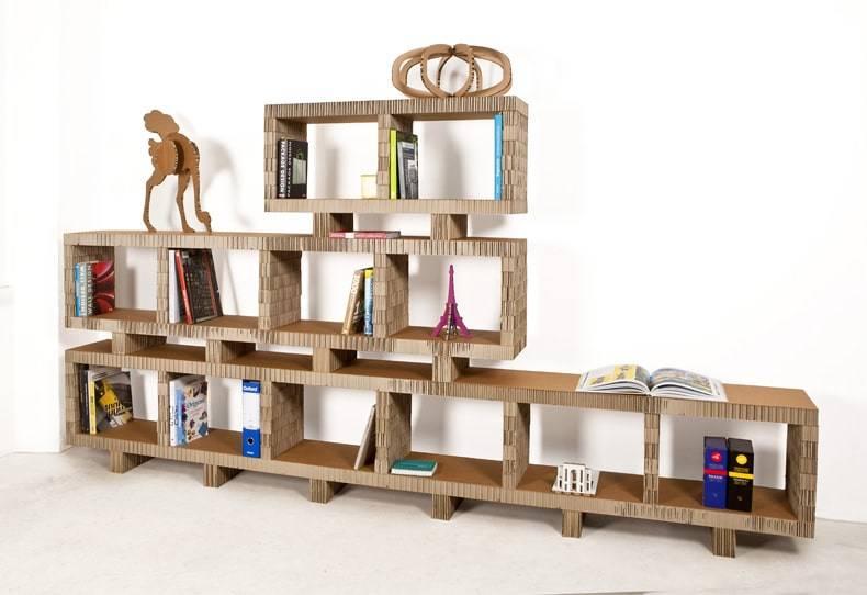 Libreria in cartone riciclato Bookstack - Design Miss
