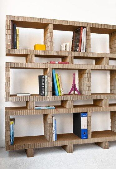 libreria-cartone-riciclato - Design Miss