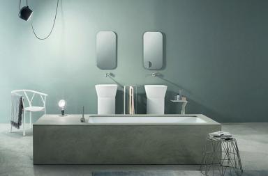Wave, la vasca da bagno in ecocemento