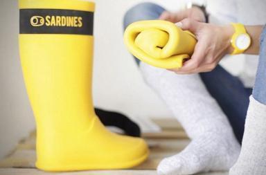 Sardines Foldable Rain Boots