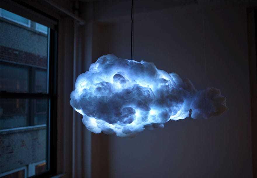 Lampada nuvola, effetto temporale