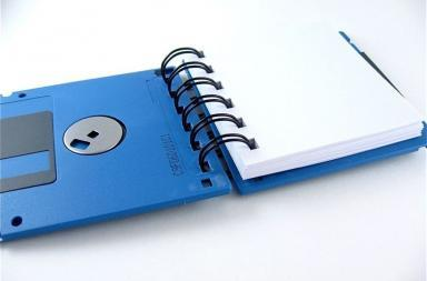 Small Notebook by Recycle Floppy Disks