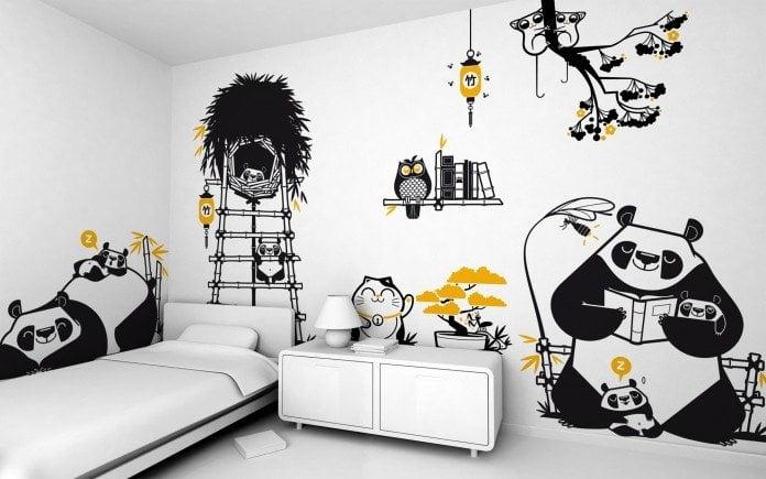 Adesivi murali camera da letto