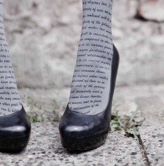 Love Text Print Tights by Zohara