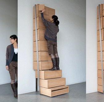 Staircase: la cassettiera con gradini di Danny Kuo