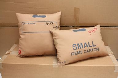 Cuscini di cartone