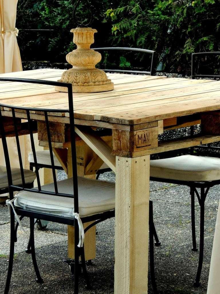 Tavolo con pallet riciclato design miss for Design della casa di 750 piedi quadrati