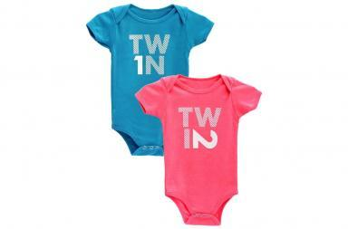 Divertenti t-shirt per gemelli