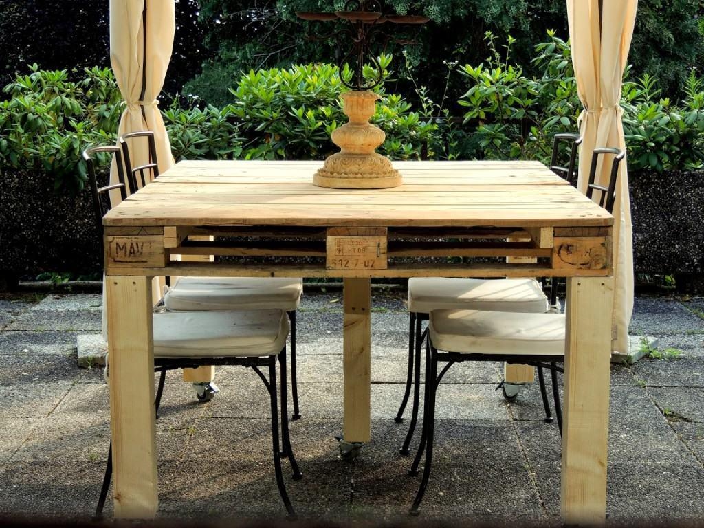 Tavolo Da Lavoro Con Bancali : Tavolo da giardino pallet con un bracieremobili con pallet