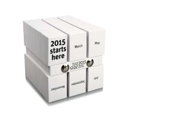 """Calendario 2015 """"The Cube"""""""