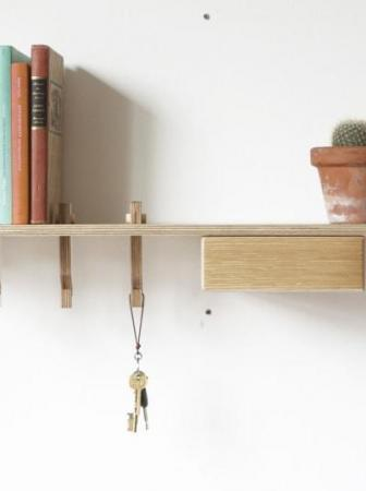 Mensola Hook Shelf by James Tattersall