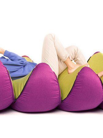 Le sedute multiple di Mandarin Pouf