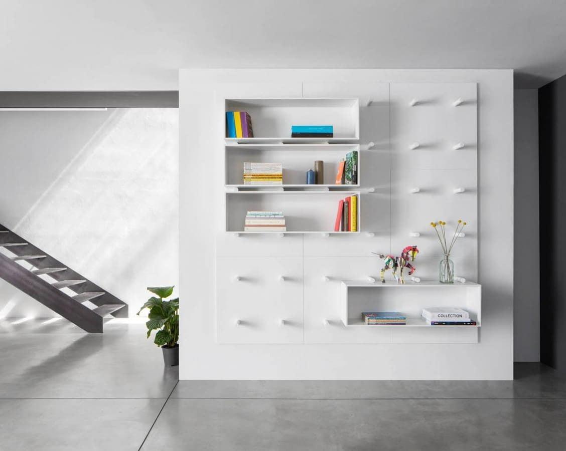 10 librerie componibili per arredare il soggiorno design for Aprire il concetto di soggiorno