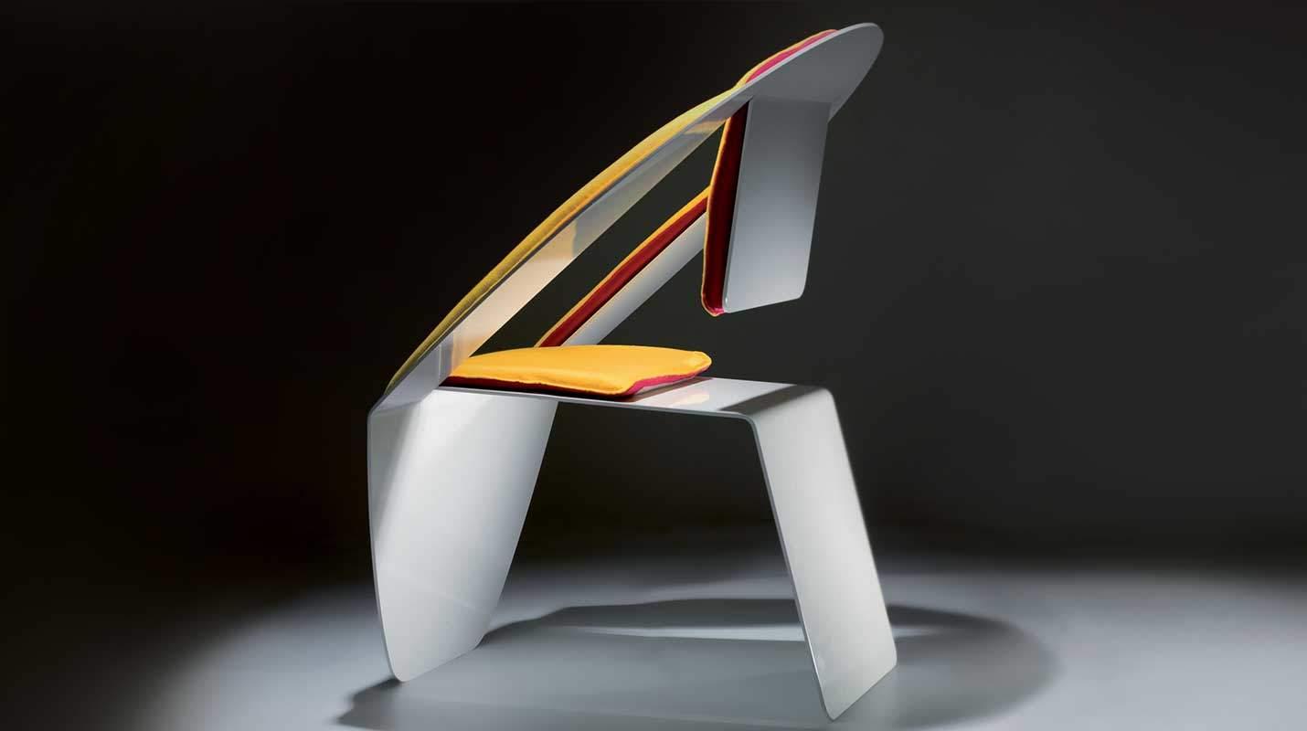 Sedia di alluminio lovo design miss for Sedia di design