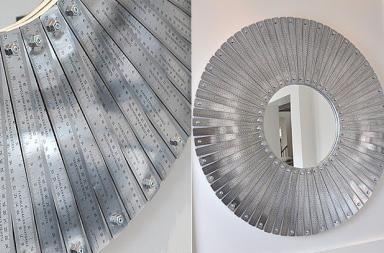 Specchio moderno in acciaio