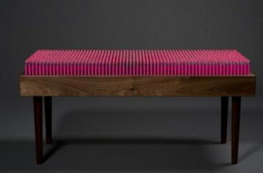 Pencil Bench: 1600 matite rosa diventano una seduta di design