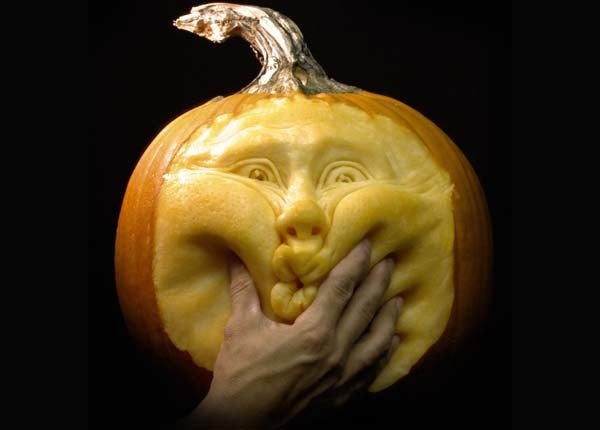 Sculture di zucca Expressive Pumpkin Faces Ever-00