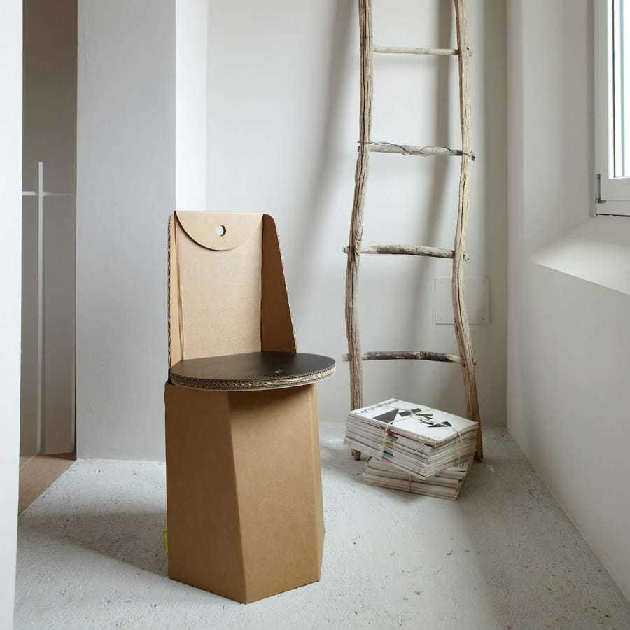 Sedie di cartone per un design sostenibile design miss for Mobili stilizzati