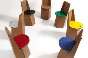 Sedie di cartone per un design sostenibile
