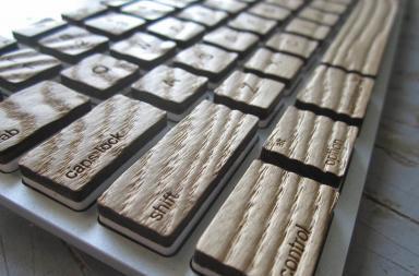 Tasti pc in legno per tastiera Apple