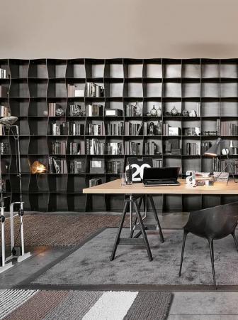 Libreria Iron-ic, sinuosa e versatile