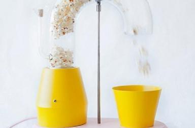 Un'insolita macchina per popcorn