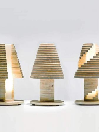 Abat-jour in legno componibile