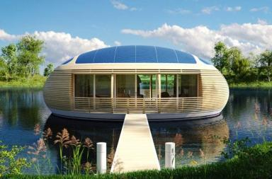 Una casa ecologica galleggiante