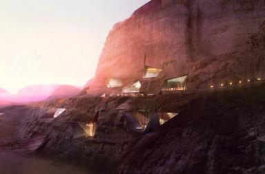 Resort nel deserto Wadi Rum