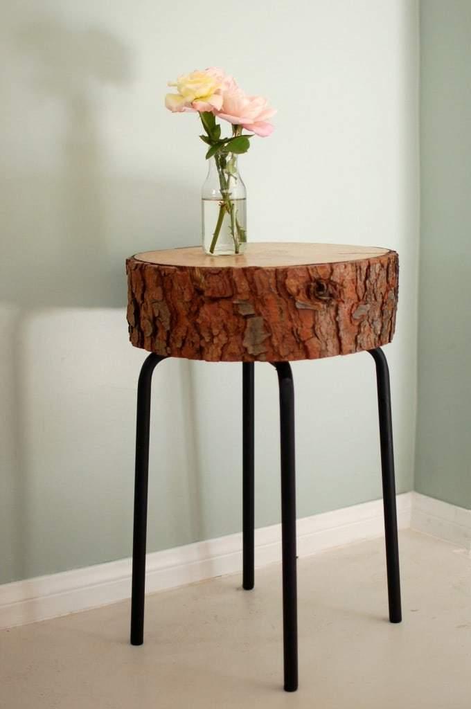 Comodino fai da te con tronco d albero design miss for Tronco albero arredamento