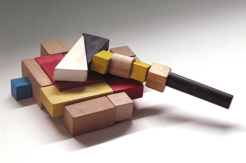 Brick series costruzioni in legno diventano oggetti di - Oggetti di design in legno ...