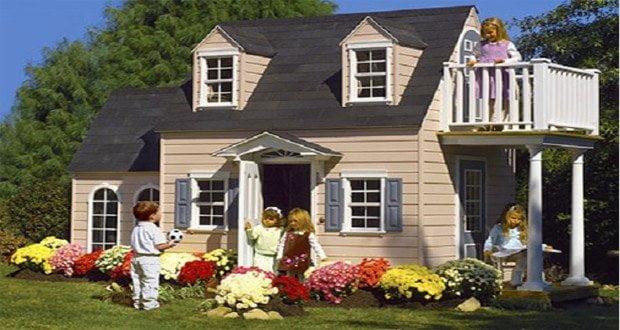 Playhouses ville di lusso per piccoli lords design miss for Case per bambini da giardino
