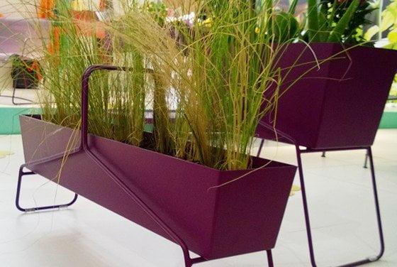 Fioriere in alluminio basket design miss for Arredamento balconi e terrazze