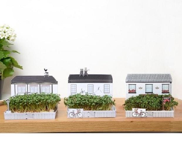 Matchcarden una casa con giardino in miniatura design miss - Come costruire una casa in miniatura ...