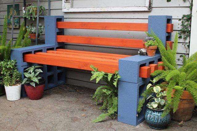 Come realizzare panchine da giardino con blocchi forati design miss - Panchine da giardino ikea ...